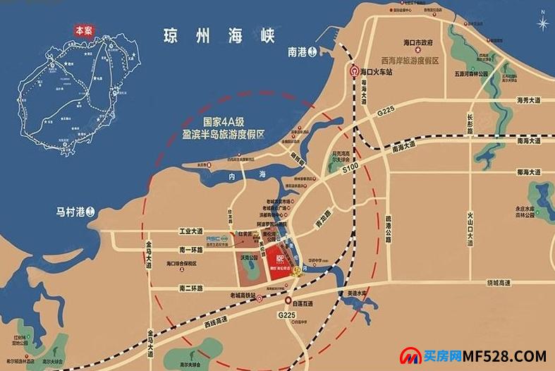 海南澄迈融创美伦熙语交通图
