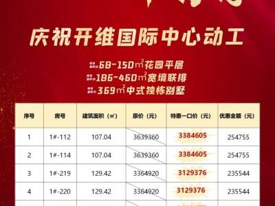 开维生态城 中秋国庆 双节特惠